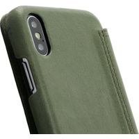 Book Case - Olive Green Apple iPhone X/XS
