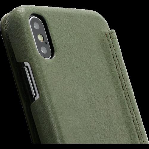 Minim Book Case - Olive Green Apple iPhone X/XS