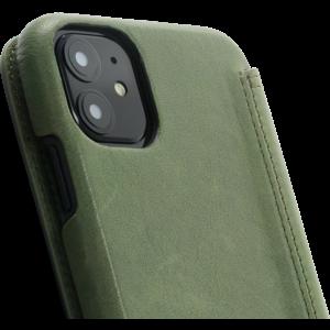 Minim Book Case - Olive Green, Apple iPhone 11
