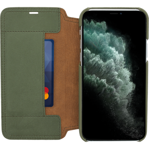 Minim Book Case - Olive Green, Apple iPhone 11 Pro