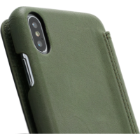 Book Case - Olive Green, Apple iPhone Xs Max