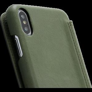 Minim Book Case - Olive Green, Apple iPhone Xs Max