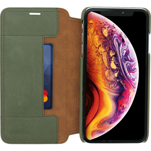 Minim Book Case - Olive Green, Apple iPhone Xs Max