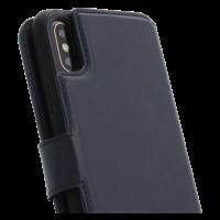 2 in 1 Wallet Case - Dark Blue, Apple iPhone X/XS