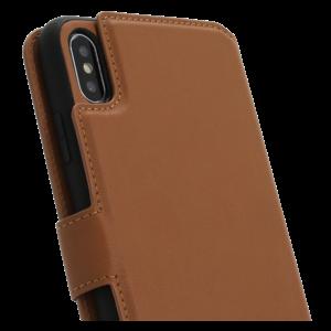 Minim 2 in 1 Wallet Case - Light Brown, Apple iPhone Xs Max