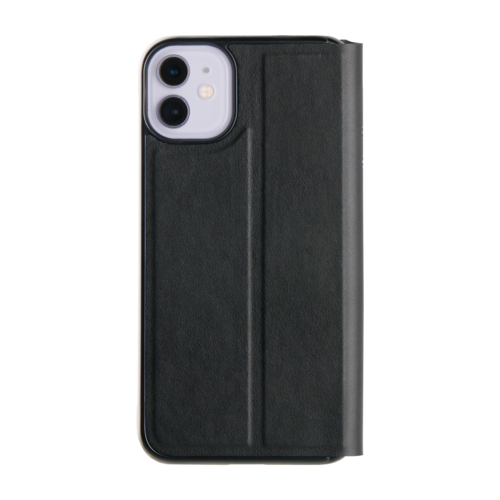 Promiz Book Case - Black, Apple iPhone 11