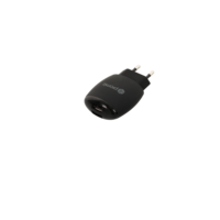 Wall Charger - Black, Dual USB 2.4A