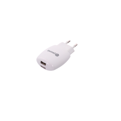 Promiz Wall Charger - White, Dual USB 2.4A