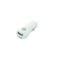 Car Charger - White, Dual USB 2.4A