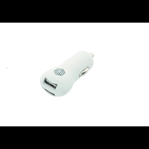 Promiz Car Charger - White, Dual USB 2.4A