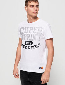 superdry track and field light metallic t