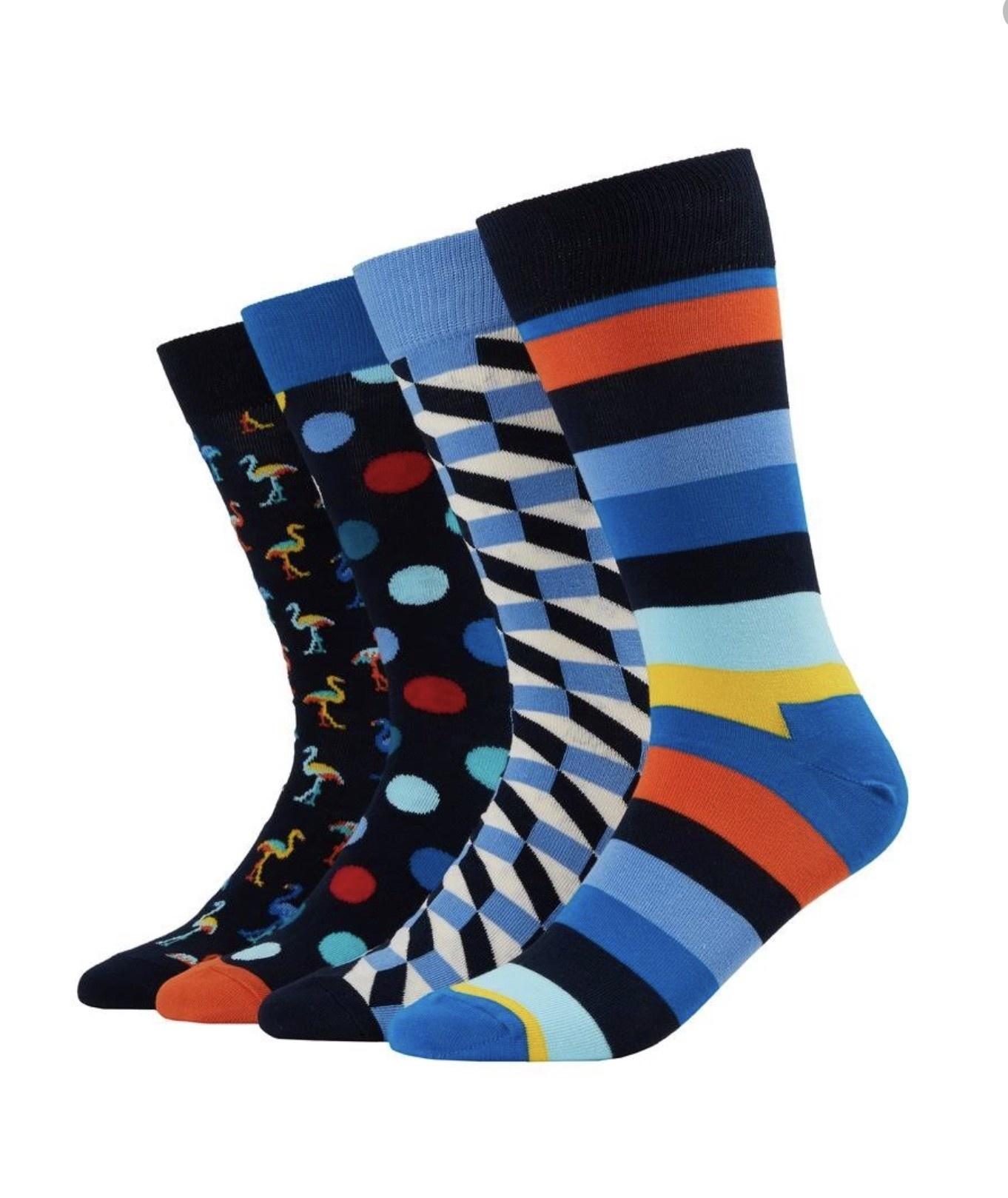 happy socks happy socks 4 pack gift box flamingo