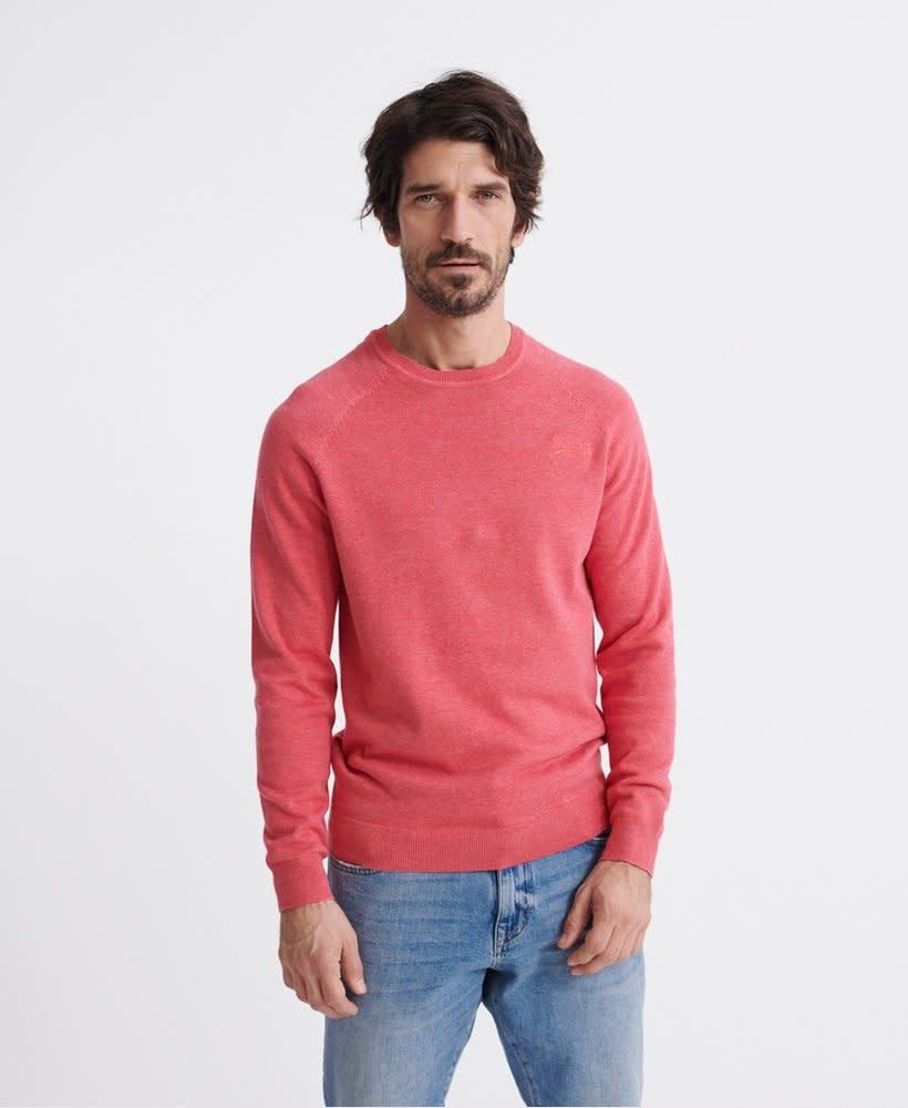 superdry Orange label cotton crew