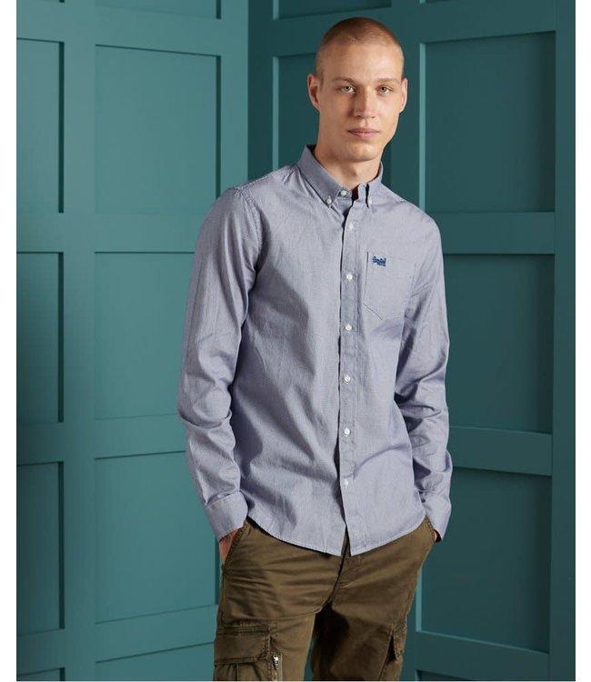 superdry classic university oxford gingham shirt