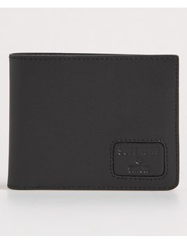 superdry mens vermont leather wallet black