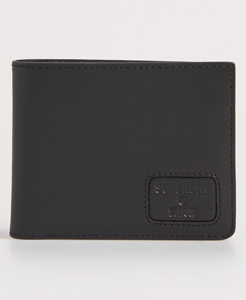superdry mens vermont leather wallet black