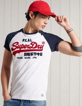 superdry superdry vintage logo duo raglan tee