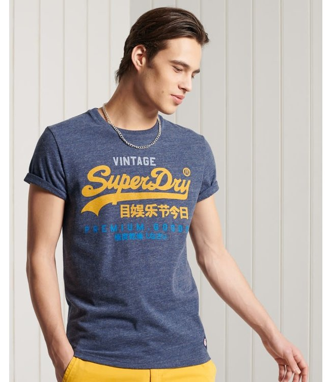superdry superdry logo vintage logo tri tee