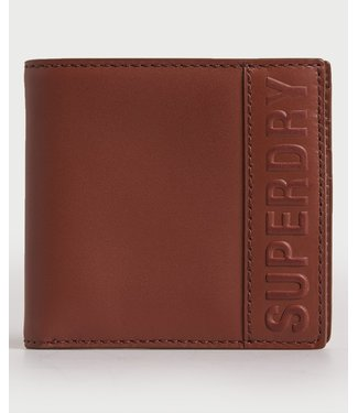 superdry vermont leather wallet tan