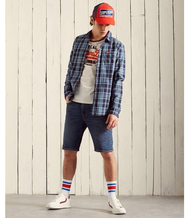 superdry Superdry sun faded lumberjack shirt