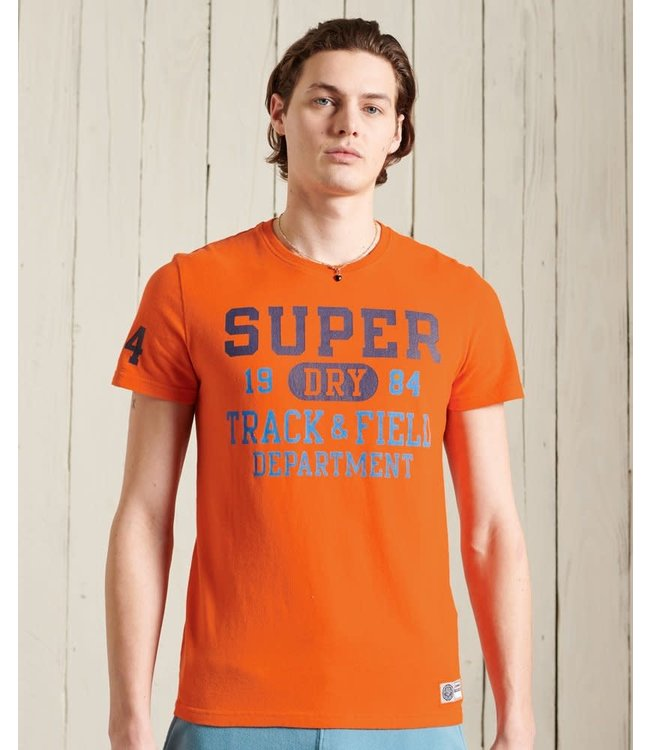 superdry Track & Field Graphic Standard Weight T-Shirt