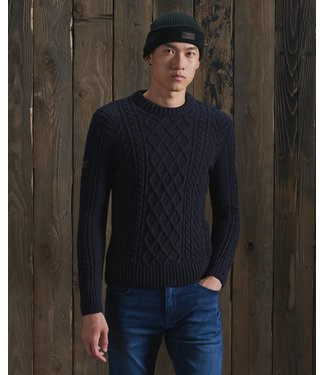 superdry Jacob cable crew neck