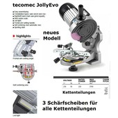 Sägekettenschärfgerät für Sägekette einer Kettensäge - Kettenschärfgerät tecomec evo Semi-Profi