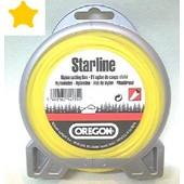 Mähfaden 2,4 mm x 15 m Oregon starline sternförmig gelb für Motorsense und Freischneider
