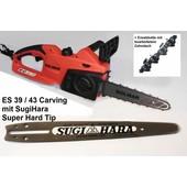 Carvingsäge Dolmar ES-39 Makita UC 3041A 25cm SugiHara Schiene Elektrokettensäge Carving Holzschnitzen + Ersatzkette