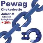 Forstkette 2,0m 4-Kant 8mm Pewag Joker V Schlinghaken XF8-G10 + Nadel -Bruchlast 12t