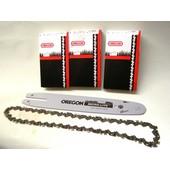 Schneidgarnitur Schwert 30cm +3 Kette 1,1 Nut OREGON STIHL E14  017 021 MS140 MS170 Kettensäge