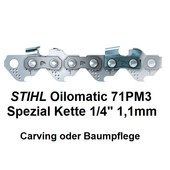 "Carving Sägekette 1/4"" 65 Trgl. 1,1 Nut Stihl Micro auch Baumpflege"