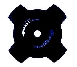 Freischneider 4- Zahn Gras - u. Dickichtmesser 230 x 25,4 x 1,4mm ORGON für Motorsense
