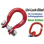 Verbindungsglied Forstkette pewag UniLock Glied U8 Schäkel für Aufhängeglied und 8mm Rückekette