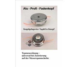 Freischneider Alu - Fadenkopf Profi 140 mm Tap-&-Go Befestigung auf Messerscheibe