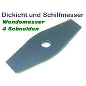 Freischneidermesser 2-Zahn 255 / 25.4 mm Wendemesser für Schilf u. Dickicht