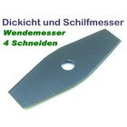Freischneidermesser 2-Zahn 305 / 25.4 mm Wendemesser für Schilf u. Dickicht