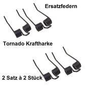 Vertikutiermesser Doppelfeder Kraftharke Ersatzfedern 2 Satz 4 Stück für Tornado Harken am Rasenmäher