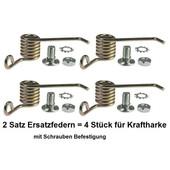 Vertikutiermesser Kraftharke Ersatzfedern 2 Satz 4 Stück für Schrauben Befestigung
