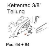 """Kettenrad Dolmar 3/8"""" AS 3626 AS 3731 ES 33A ES 38A ES 39A ES 42A ES 43A elektrische Kettensäge"""