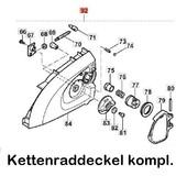 """Kettenraddeckel Dolmar 3/8"""" AS - 3626 AS - 3731 ES - 33A ES - 39A ES - 42A ES - 43A el. Kettensäge"""