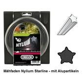 Mähfaden Oregon Nylium-Starline 3,0 mm x 15 m mit Alu-Partikel  für Motorsense / Freischneider