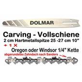 """Carvingschwert Dolmar Führungsschiene 25 cm + 1/4"""" Kette als Verschleißersatz"""
