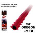 Mähfaden 7.0 mm X 26 cm 155 Stck.Oregon Techni-Blade spez.Faden für Jet-Fit Kopf auf Freischneider Motorsense