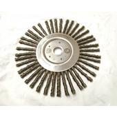 Wildkrautbürste 175mm Durchmesser 20mm Aufnahme radiale Drahtbürste für Freischneider / Motorsense