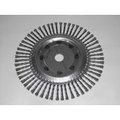 Wildkrautbürste 250 mm x Bohr. 25,4 radial für starke Motorsensen und Freischneider