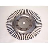 Wildkrautbürste 250 mm x Bohr.20mm radiale Zöpfe für starke Motorsensen und Freischneider