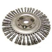 Wildkrautbürste 175mm Durchmesser 20mm Aufnahme-Scheibe radiale Drahtbürste für Freischneider / Motorsense