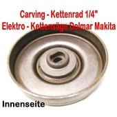 "Carving Kettenrad 1/4"" Dolmar ES 153 163 173 183 2130 - 2145A Elektro Kettensäge"
