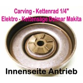"""Carving Kettenrad 1/4"""" Dolmar ES-151 + ES-152 A + ES-160 + ES-162 A + ES-171 ES-172 A + ES-2030 A + ES-2035 A + ES-2040 A + ES-2045 A UC 3500 + UC 3503 + UC 4000 A + UC 4003"""